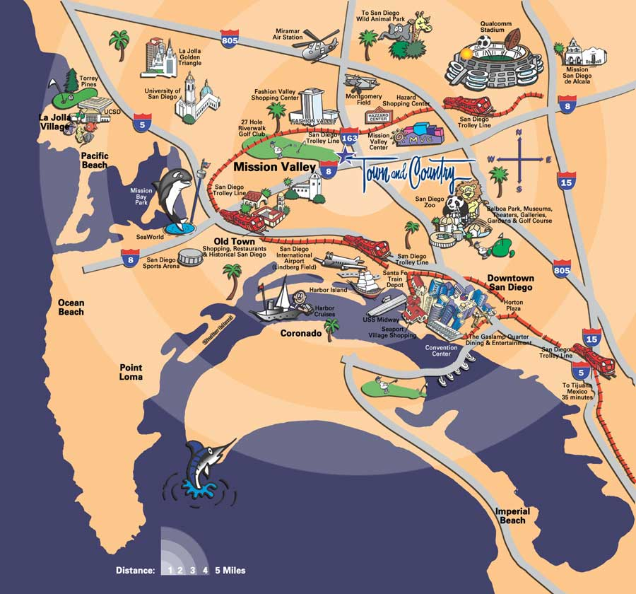 city of san diego boundary map beaches